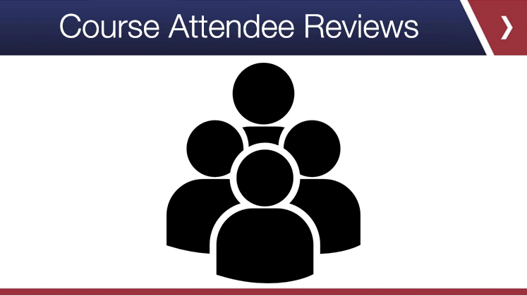 Course Attendee Reviews